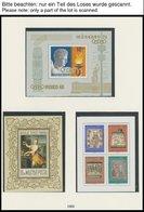 1968-75, Partie Von 64 Verschiedenen Gezähnten Postfrischen Blocks Und Kleinbogen Im Lindner Falzlosalbum, Prachterhaltu - Hongrie