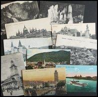 SAMMLUNGEN, LOTS 10 Verschiedene ältere Frankierte Ansichtskarten, Pracht - Hongrie