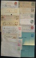 Ganzsachen: 1871-1917, 15 Verschiedene Ganzsachen, U 1-3 Ungebraucht Sonst Alle Gebraucht, Einige Bessere, Meist Pracht  - Hongrie