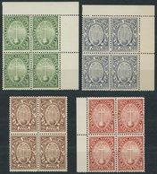 VATIKAN 17-20 VB **, 1933, Heiliges Jahr Der Erlösung In Viererblocks, 0.80 L. Gummi Teils Verfärbt Sonst Postfrischer P - Vatikan