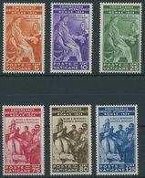 VATIKAN 45-50 *, 1935, Juristenkongress, Falzrest, Prachtsatz, Mi. 140.- - Vatikan