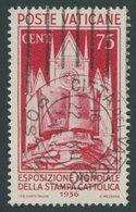 VATIKAN 55 O, 1936, 75 C. Katholische Presse, Pracht, Mi. 70.- - Vatikan