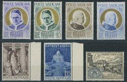 VATIKAN 174-79,188 **, 1951/2, Seligsprechung Und Briefmarkenausgabe, Postfrisch, 7 Prachtwerte, Mi. 64.- - Vatikan