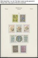 VATIKAN **, Fast Komplette Postfrische Sammlung Vatikan Von 1959-96 Im KA-BE Falzlosalbum, Dazu 1958 Auf Lindner Falzlos - Vatikan