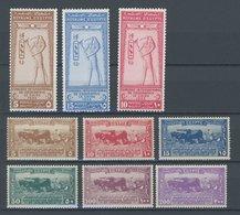 ÄGYPTEN 94-102 *, 1925/6, Geographenkongress Und 12. Landwirtschafts-und Industrieausstellung, Falzrest, 2 Prachtsätze,  - Ägypten
