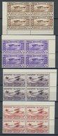 ÄGYPTEN 186-90 VB **, 1933, Luftfahrtkongress In Postfrischen Eckrandviererblocks, Prachtsatz - Ägypten