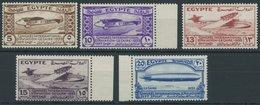 ÄGYPTEN 186-90 **, 1933, Luftfahrtkongress, Postfrischer Prachtsatz - Ägypten