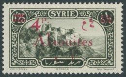 ALAWITEN-GEBIET 49 *, 1926 4 Pia. Auf 0.25 Pia. Olivschwarz, Falzrest, Pracht,Mi. 70.- - Alaouite (1923-1930)
