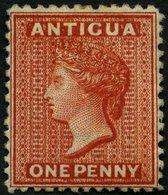 ANTIGUA 4b *, 1872, 1 P. Scharlach, Wz. CC, Gummireste, Pracht, Mi. 450.- - Antigua Und Barbuda (1981-...)