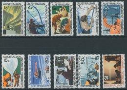 ANTARKTISCHE GEBIETE 8,10-18 **, 1966, Forschung In Der Antarktis, 10 Postfrische Prachtwerte, Mi. 75.- - Australisches Antarktis-Territorium (AAT)