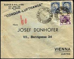 BRASILIEN 8.4.1937, CONDOR-LUFTHANSA Nach Wien Geflogen, Bedarfsbrief, Feinst, Haberer 530a - Brasilien