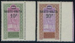 BURKINA FASO 41/2 **, 1926/7, 10 Fr. Auf 5 Fr. Und 25 Fr. Auf 5 Fr. Obersenegal-Niger, Postfrisch, 2 Prachtwerte - Obervolta (1958-1984)