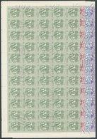 CUBA 2810-13 O, 1983, Blüten Im Bogensatz (100) Mit Zentrischen Stempeln, 1x Gefaltet, Pracht, Mi. 320.- - Kuba