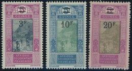 FRANZÖSISCH-GUINEA 114-16 **, 1924/27, 3 - 20 Fr. Landschaften, Postfrisch, 3 Prachtwerte - Französisch-Guinea (1892-1944)