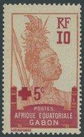 GABUN 85 **, 1915, 10 C. Rotes Kreuz, Postfrisch, Pracht - Gabun (1886-1936)