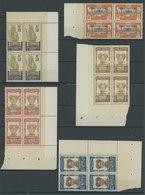 GABUN 57b,68-71 VB **, 1910, 5 Verschiedene Postfrische Viererblocks, Pracht - Gabun (1886-1936)