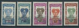 GABUN 118-22 **, 1926/7, Freimarken, Postfrischer Prachtsatz - Gabun (1886-1936)