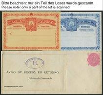 HONDURAS Ca. 1890-92, 10 Fast Nur Verschiedene Ungebrauchte Ganzsachen, Feinst/Pracht - Honduras