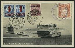 KOLUMBIEN 29.6.1932, Erstflugkarte Cali-Bogota, Rückseitige Frankatur Auf Fotokarte (DOX), Pracht - Kolumbien