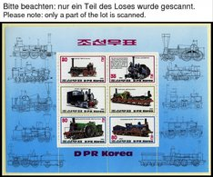 KOREA-NORD **, Ca. 1980-99, Kleine Postfrische Partie Verschiedener Werte Eisenbahn, Luftpost Und Die Geschichte Der Luf - Korea (Nord-)