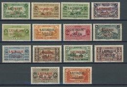 ALAWITEN-GEBIET 72-85 *, 1931, 1 Pia. - 100 Pia. LATAQUIE, Falzreste, 14 Prachtwerte, Mi. 158.- - Alaouite (1923-1930)
