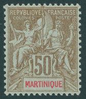 MARTINIQUE 44 *, 1899, 50 C. Braun/rot Auf Bläulich, Falzrest, Pracht - Martinique (1886-1947)