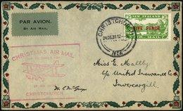 NEUSEELAND 184931122495 BRIEF, 24.12.1931, 5 P. Auf Weihnachtssonderflug CHRISTCHURCH-INERCARGILL, Weihnachtsbrief Mit P - Neuseeland