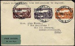 NEUSEELAND 181-83 BRIEF, 12.11.1931, Erstflug (Weihnachtsflug) NEUSEELAND-AUSTRALIEN-LONDON, Brief Feinst (Öffnungsmänge - Neuseeland
