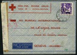NIEDERLÄNDISCH-INDIEN 220 BRIEF, 1941, Brief Des Ned.-Ind. Roode Kruis Von BATAVIA Nach Genf, Verschlussstreifen Des Obe - Indes Néerlandaises