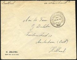 NIEDERLÄNDISCH-INDIEN 1947, K2 VELDPOST BANDOENG/1/1947 Und Handschriftlicher Vermerk In Active Dienst Auf Luft-Feldpost - Indes Néerlandaises