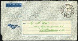 NIEDERLÄNDISCH-INDIEN 1949, K2 VELDPOST BANDOENG/1949 Auf Luft-Feldpost-Vordruckbrief Mit Aufdruck IN ACTIEVE DIENST Und - Indes Néerlandaises