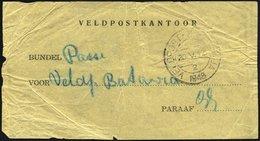 NIEDERLÄNDISCH-INDIEN 1948, Feldpost-Vorbindezettel Für Feldpostsendungen Von Soerabaja Nach Batavia Mit Entsprechendem  - Indes Néerlandaises