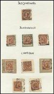 NIEDERLÄNDISCH-INDIEN 1896-1899, Saubere Sammlung Viereck-Ortsstempel Auf 187 Briefstücken Von AMBARAWA Bis WLINGI, Selt - Indes Néerlandaises