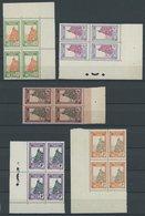 NIGER 29-53 VB **, 1926, Landschaften (ohne Mi.Nr. 35) In Viererblocks, Fast Alle Aus Der Bogenecke, Postfrisch, 24 Prac - Niger (1921-1944)