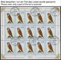 SAO TOME UND PRINCIPE 879-900 O, 1983, Vögel Im Bogensatz, Pracht, Mi. (954.-) - São Tomé Und Príncipe