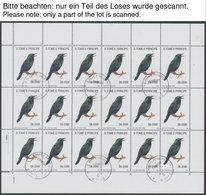 SAO TOME UND PRINCIPE 1330-33KB O, 1992, Fauna Und Flora Im Kleinbogensatz (18), Marken Pracht, Mi. 720.- - São Tomé Und Príncipe
