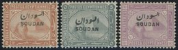 SUDAN 6-8 *, 1897, 2 - 10 Pia. SOUDAN, Stärkere Falzreste, 3 Prachtwerte, Mi. 151.- - Sudan (1954-...)