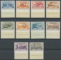 TANGER 19-28 **, 1929, Überschwemmungsopfer, Mit Unten Anhängenden Stegen, Postfrischer Prachtsatz - Marokko (1891-1956)