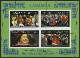 TANSANIA Bl. 64 **, 1987, Block 60. Geburtstag, Stark Verzähnt, Pracht - Tansania (1964-...)