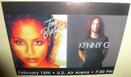 Carte Postale - Tony Braxton / Kenny G - U.S. Air Arena - Publicité