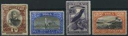 TONGA 49-52 *, 1897, 1 - 5 Sh. Freimarken, Falzreste, 4 Werte üblich Gezähnt Pracht, Mi. 149.- - Tonga (1970-...)