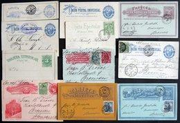 URUGUAY 1887-1909, 10 Verschiedene Ganzsachen, Meist Gebraucht, Feinst/Pracht - Uruguay