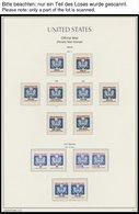 SAMMUNGEN, LOTS **, 1970-92, Postfrische Sammlung USA In 2 Roten Leuchtturm Falzlosalben, Wohl Weitgehend Komplett Mit V - Collections