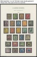 SAMMUNGEN, LOTS O, Fast Nur Gestempelte Sammlung USA Bis 1969 Mit Diversen Mittleren Ausgaben, Die Ersten Jahre Kaum Ver - Collections