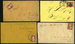 SAMMUNGEN, LOTS 9,17/8 BRIEF, 1857-61, 9 Verschiedene Belege, Feinst/Pracht, Besichtigen! - Collections