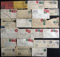 SAMMUNGEN, LOTS 1884-1922, Interessante Partie Von über 20 Belegen, Fast Nur Nach Deutschland, Unterschiedliche Erhaltun - Collections