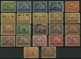 SAMMUNGEN, LOTS O,~ , Revenue- Und Proprietary: 1898-1901, 22 Verschiedene Werte Battleship, Etwas Unterschiedlich - Collections
