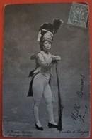 DE BRIVES Variétés Danseuse Chanteuse Revue Artiste Femme Uniforme Militaire - Artistes