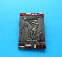 1948. BALKAN AND CENTRAL EUROPEAN ATHLETICS GAMES Old Enamel Badge Poland Trieste Albania Romania Hungary Czech Republic - Athletics