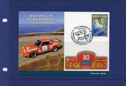 ##(DAN192)-20.9.2014  26° Rallye Elba Storico-F.I.A. European Historic Rally Champioship 2  Postcards In Nice Folder - Rally